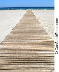 Footbridge - Wooden footbridge at the beach