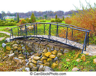 Footbridge in a park