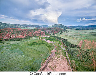 foothills of Rocky Mountains in Colorado