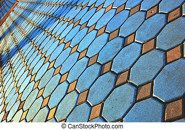 Abstract of paved footpath
