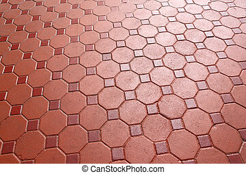 Footpath concrete block - Red color footpath concrete block
