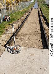 Footpath  construction - Concrete work