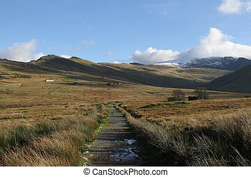 Footpath. - Footpath leading into national park land with ...