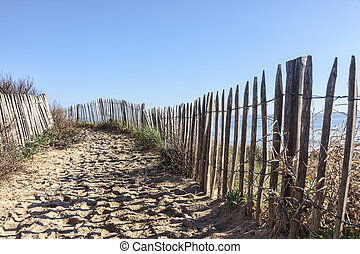 Footpath on the Atlantic Dune in Brittany