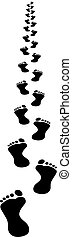 footpath silhouette