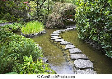 footpath, stones.