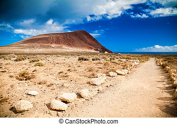 footpath to the beach Playa de la Tejita