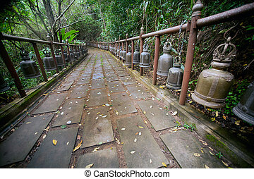 Footpath to Wat Phra That Doi Tung. - Footpath to Wat Phra...