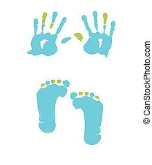 footprint and handprint - boy footprint and handprint