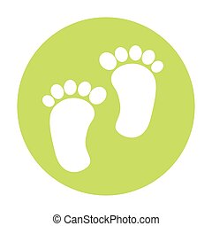 footprint baby isolated icon
