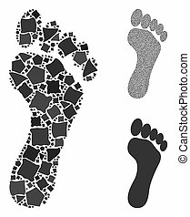 Footprint Composition Icon of Joggly Parts