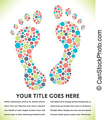 Footprint design made from circles. - Footprint design made...
