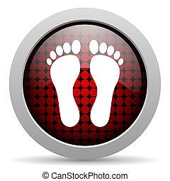 footprint glossy icon