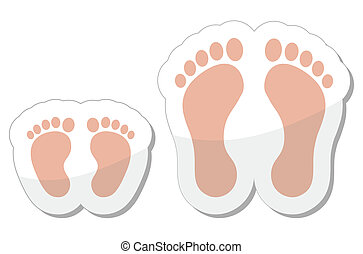 Footprint icon - baby, child and ad - Footsteps icon set -...