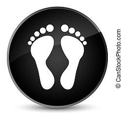 Footprint icon elegant black round button