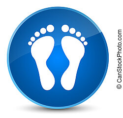 Footprint icon elegant blue round button