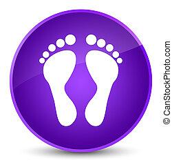 Footprint icon elegant purple round button