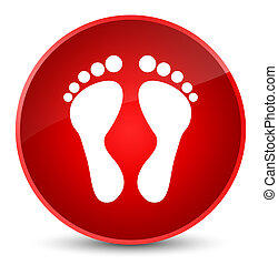 Footprint icon elegant red round button