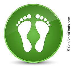 Footprint icon elegant soft green round button
