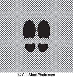 Footprint icon isolated on white background. Vector shoe print.