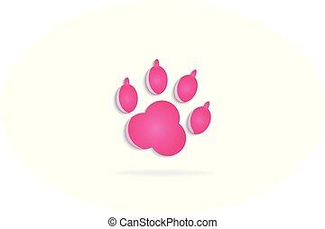 Footprint icon logo vector image design template