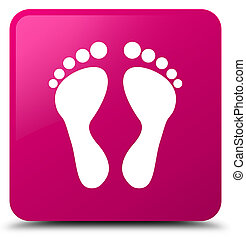 Footprint icon pink square button