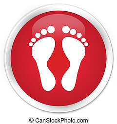 Footprint icon red button