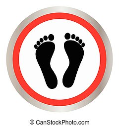 Footprint icon sign. Footprint icon