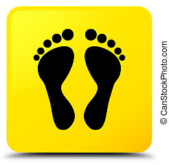 Footprint icon yellow square button
