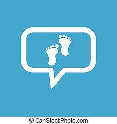 Footprint message icon