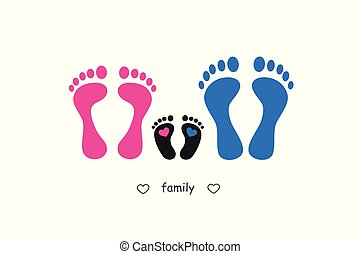 footprint mother baby and father
