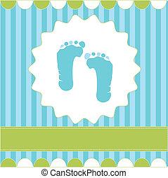 footprint of boy