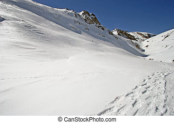 footprint on snow
