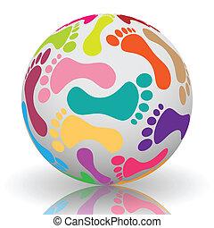 Footprint on the ball