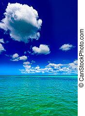 Caribbean sea Dominican Republic turquoise - footprint on ...