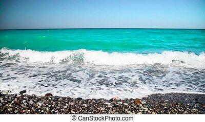 Caribbean sea Dominican Republic turquoise - footprint on...