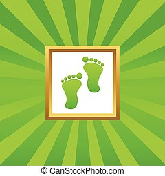 Footprint picture icon