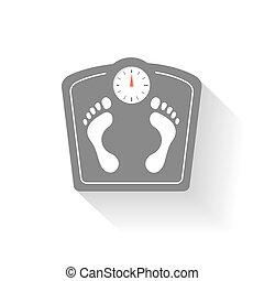 footprint., sinais, escalas, peso, banheiro, set., ícones, ...