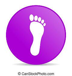 footprint violet circle web glossy icon