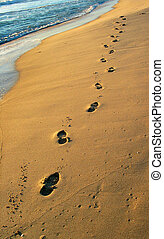 Footprints at the Beach