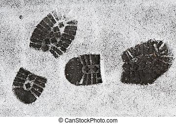 Footprints in the Snow - Footprints in the snow