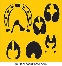 Footprints vector set - vinyl-ready illustration.