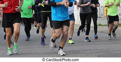 footrace with many people