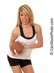 Footrball Girl 6 - Lovely isolated blond lady with a...