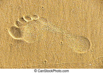 Footstep - A footstep in the sand