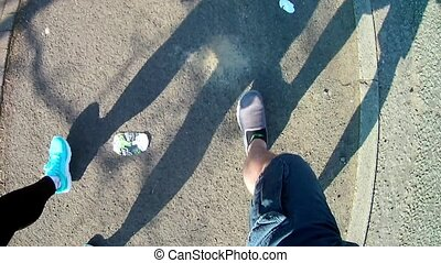 Legs and Feet walking