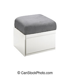 footstool isolated on white