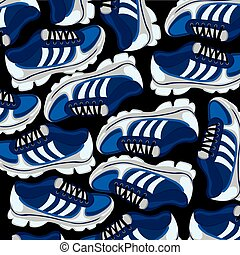 Footwear atheletic background