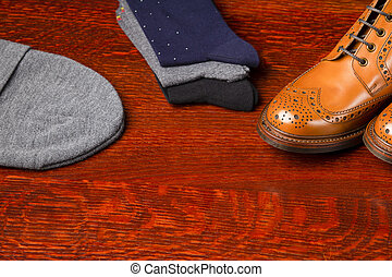 Footwear Compositions Made Up of Mens Fashionable Tanned...