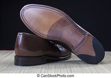 Footwear Concepts and Ideas. Backside View of Penny Loafer...